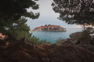photography spots in Montenegro - Sveti Stefan close view