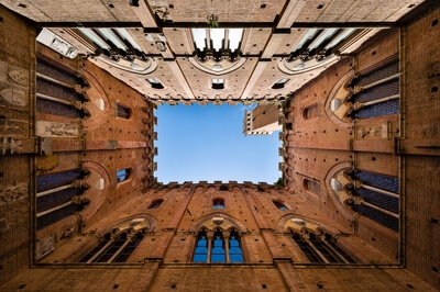 photo spots in Tuscany - Siena, Pubblico Palace (view up)