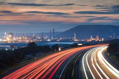 images of South Wales - Port Talbot - M4 Overlook