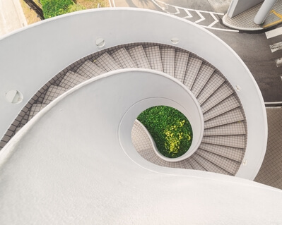 photography locations in Singapore - Raffles Blvd Spiral Stairs