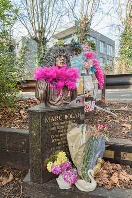 photos of London - Marc Bolan Shrine
