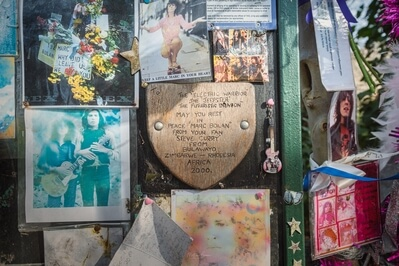 images of London - Marc Bolan Shrine