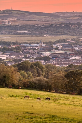 photo locations in South Wales - View from Tonna Bridleway