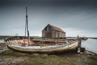 photo locations in England - Thornham - around the old harbour