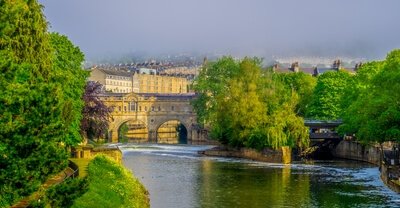 England photo locations - Pulteney Bridge,  Bath