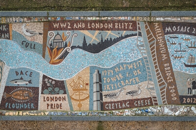 photos of London - Queenhithe Mosaic