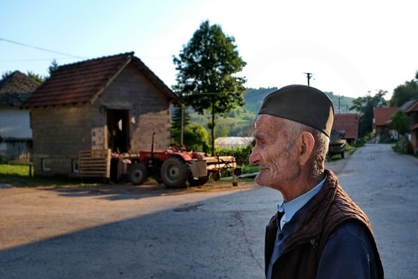 Milojko is 82 years old and still takes his sheep out to the pastures.