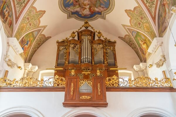 The pipe organ and interior architecture of the Church of the Immaculate Conception on Sutna Street.