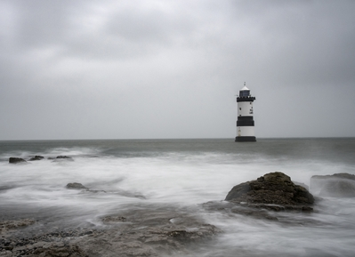 Storm Brian in 2017 at Penmon Point