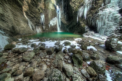 pictures of Soča River Valley - Kozjak Waterfall