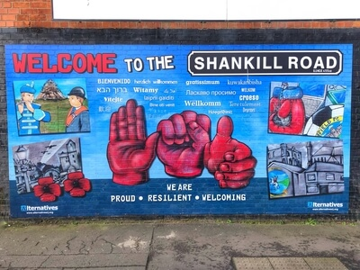 Mural 1 - Welcome To The Shankill (Road)' mural in Gardiner Street