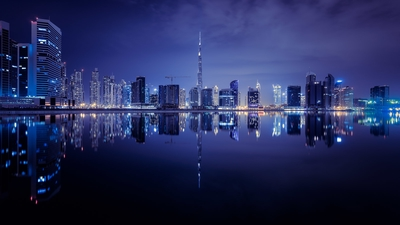 Dubai photo locations - Business Bay reflection view