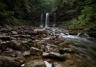 images of South Wales - Four Falls