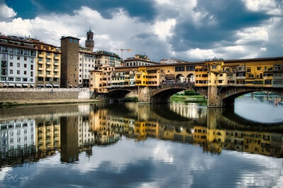 photography locations in Toscana - Arno River & Ponte Vecchio, Florence