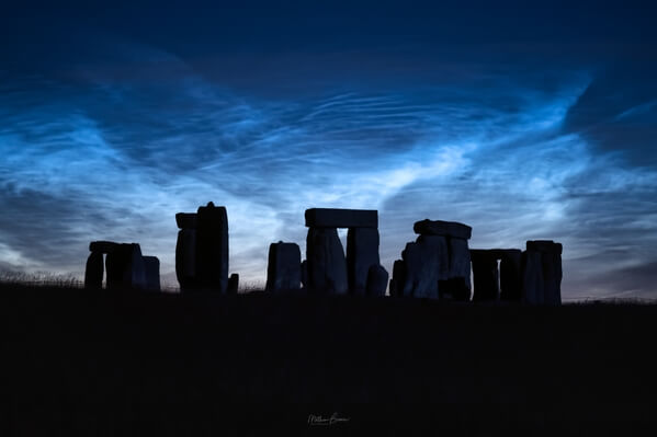 Noctilucent clouds - looking north from A303