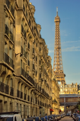 Ile De France photography spots - Eiffel Tower from Rue Nélaton