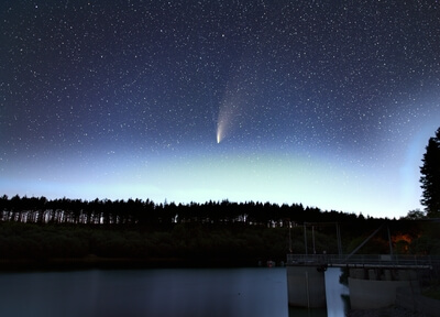 Neowise over the reservoir