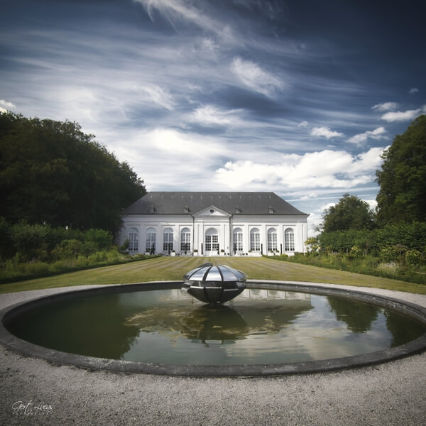 The orangerie at the Gardens of the Seneffe Castle