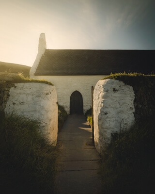 images of South Wales - Mwnt Church