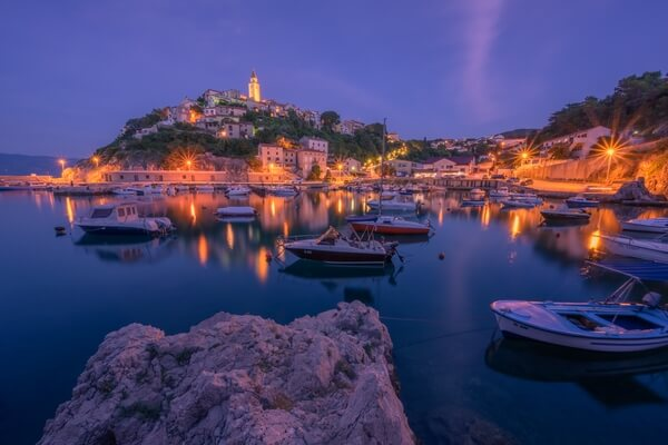 Vrbnik Town from Harbour
