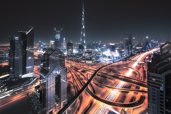One of the finest spots in Dubai - a view from above Sheikh Zaid Road