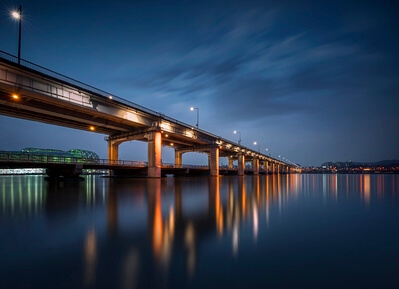 photography locations in South Korea - Banpo Bridge Seoul City