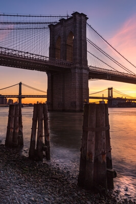 photo spots in New York - Manhattan Bridge from Seaport District, NYC