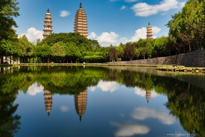 China photo locations - Three Pagodas in Dali