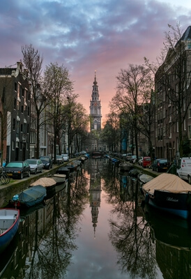Netherlands photography locations - Groenburgwal Canal and Zuiderkerk