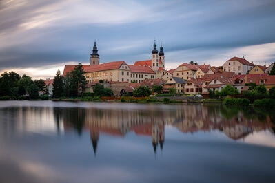 photography locations in Czechia - Telč from the wooden bridge