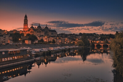Saint Front Cathedral , Périgueux - view from Pont Saint georges