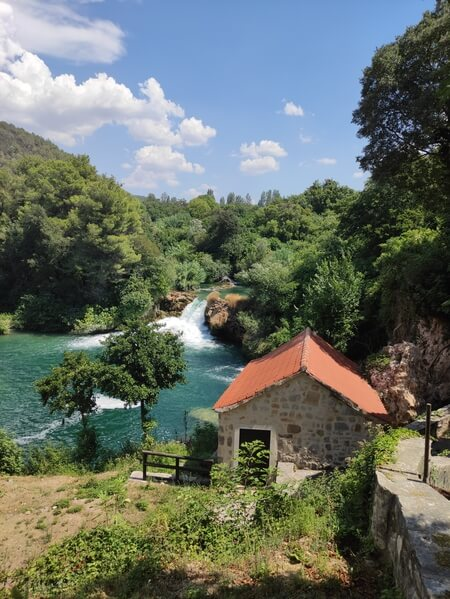 Krka Waterfalls and Watermill
