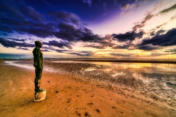 Another Place, art at Crosby Beach