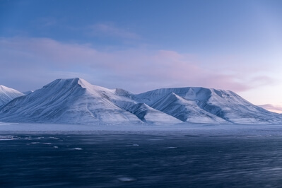 Pastel colors of polar mid-night