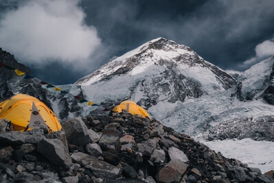 Everest Base Camp in the early spring