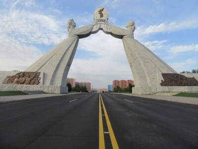 photography locations in North Korea - Arch of Reunification