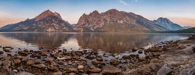 images of Grand Teton National Park - Jenny Lake Overlook and Shore