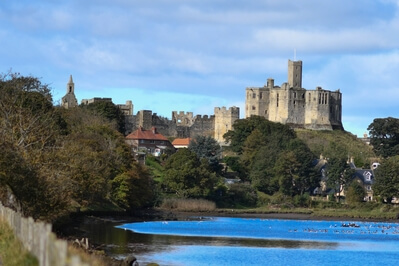 Northumberland instagram spots - View of Warkworth Castle