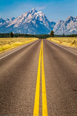 pictures of Grand Teton National Park - Grand Teton from Teton Park Road