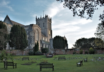 photography locations in Dorset - Christchurch Priory