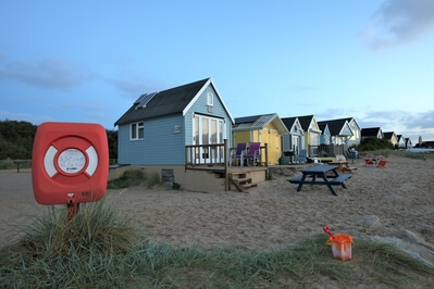 photos of Dorset - Beach huts at Mudeford Sandbank