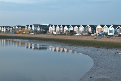 images of Dorset - Beach huts at Mudeford Sandbank