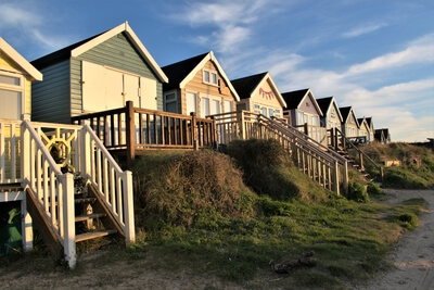 pictures of Dorset - Beach huts at Mudeford Sandbank