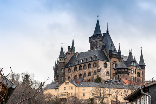 The castle in Wernigerode dominates the town and is a short walk from the smallest house. There is a road train ( charges apply ) but the walk, whilst a little steep, offers a more interesting journey for the photographer