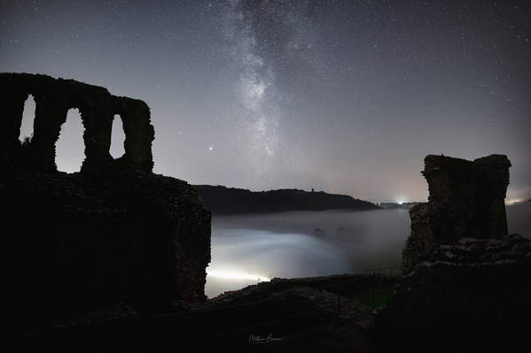Astrophotography inside the castle