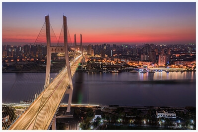 photo locations in China - Nanpu Bridge