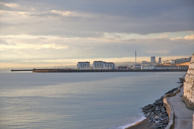 Brighton instagram spots - Brighton Marina from undercliff walk