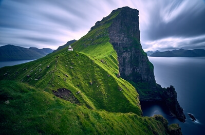 Faroe Islands photography locations - Kallur Lighthouse on Kalsoy