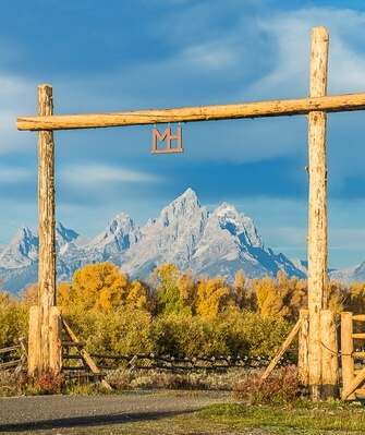 images of Grand Teton National Park - Moosehead Ranch Entrance