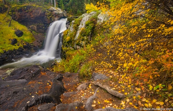 Moose Falls in the fall/autumn.